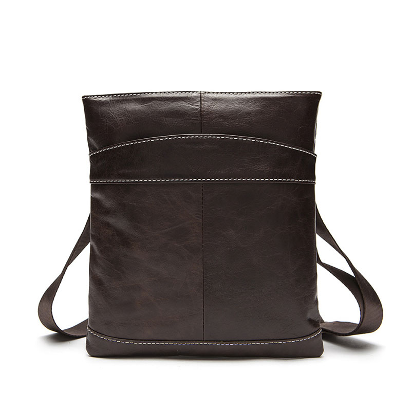 Genuine Leather Business shoulder bag Messenger small square handbag The first layer of leather Cell Phone Pocket Crossbody bags bag female new genuine leather handbags first layer of leather shoulder bag korean zipper small square bag mobile messenger bags