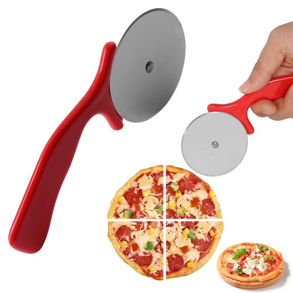 1Pc Round Shape Pizza Knife High Quality Stainless Steel Pizza Cutter Pizza Wheels Cutting Knife Cake Bread Slicer Baking Tools нож для пиццы