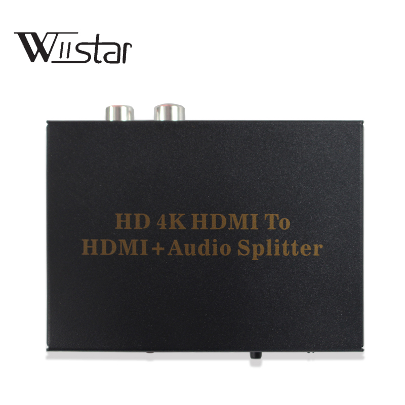 4K HDMI audio extractor splitter HDMI ARC adapter HDMI to SPDIF 5.1 Channel+L/R with ARC functions 4K*2K for DVD HDTV top quality black hdmi arc adapter to hdmi