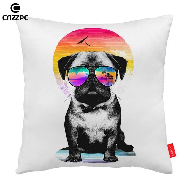 Cute PUG vacaciones Gafas de sol perro coche de impresión ...