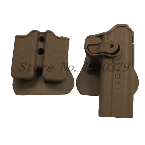 Image 4 - 1911 Holster Tactical Army CQC IMI Colt 1911 Holster Airsoft Military Paddle Pistol Gun Holster Hunting Gun Case Accessories-in Holsters from Sports & Entertainment