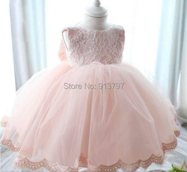 Retail 2015 nueva Baby Girl vestir de la luna llena Bowknot TUTU en capas vestido que se arrastra niña de 3 - 15 M 1231