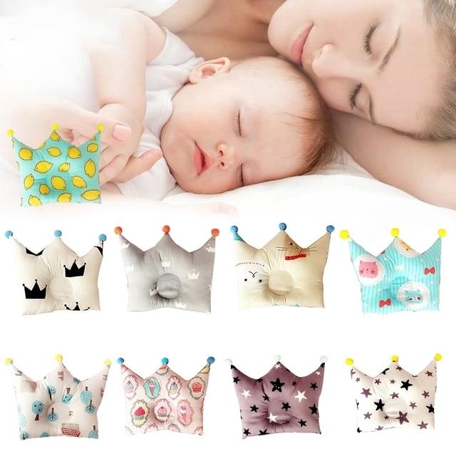 Formación de bebé Almohadas algodón Almohadas prevenir cabeza plana ...