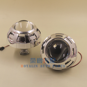 Image 5 - ROYALIN Car Styling 3.0 Bi Xenon H1 Projector Lens Metal Holder LHD RHD for Apollo 3.0 Shrouds w/Devil Eyes for H4 H7 Auto Lamps