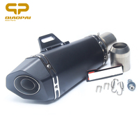 Fashion Style Motorcycle 345mm 120mm Modified Refit Exhaust Pipe Small Hexagon Angle Oblique Muffler Clamp SportsAK