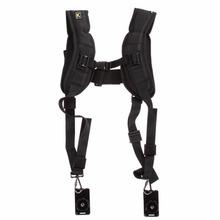 Camera Shoulder Strap Double Dual Black Quick Rapid Sling Camera Belt Adjustment for Canon for 2 Cameras Digital DSLR Strap Bag