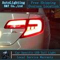 Auto Estilo de Iluminación LED Lámpara De Cola para Toyota Camry luces traseras 2012 EE.UU. versión posterior del tronco cubierta de la lámpara drl + señal + freno + reversa