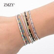 ZMZY бохо стиль Miyuki Delica бисер браслеты для женщин Браслет Дружбы бижутерия Красочный Шарм для браслета Femme ручной работы