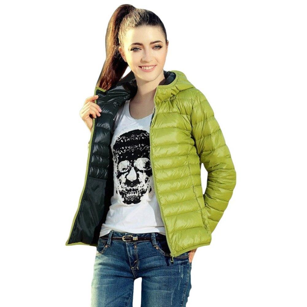Hooded Outwear Coat 2017 New Autumn Winter Women Warm Solid Color Cotton Jacket   Parkas   Slim Fit Hoodies Outerwears Zipper Type