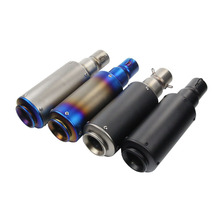 38-51mm Stainless Steel Universal Exhaust Muffler Pipe Sound For Motorcycle 330 Silencer System