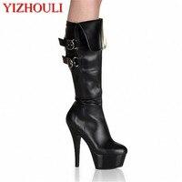 מין העקב גבוהים במיוחד מגפיים, נעלי מגפי 15 ס
