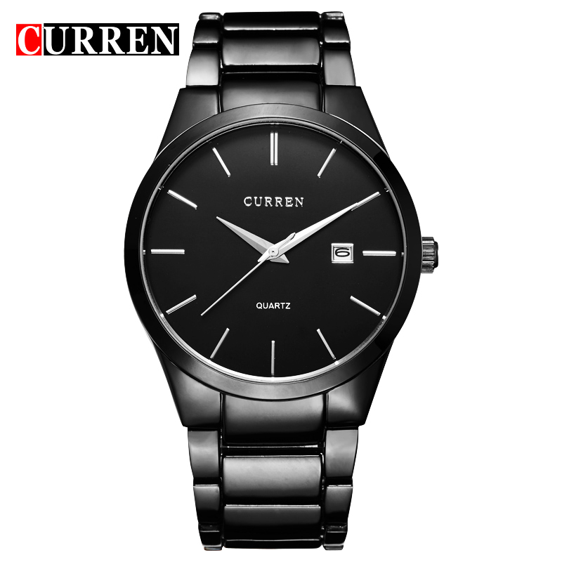 Top Luxury CURREN Men Sports Watches Full Stainless Steel Business Analog Quartz Men Watch Clock Male Relogio Masculino 8106