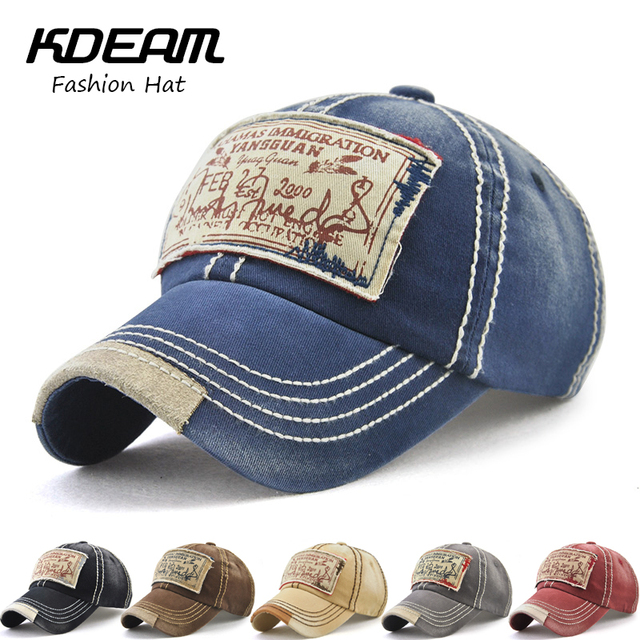 KDEAM Brand Hot 2018 Retro Cotton Baseball Cap For Men Hat Summer Cap  Unisex Hip Hop Cap Grinding Multicolor Hats Women 03921 228633a26e8