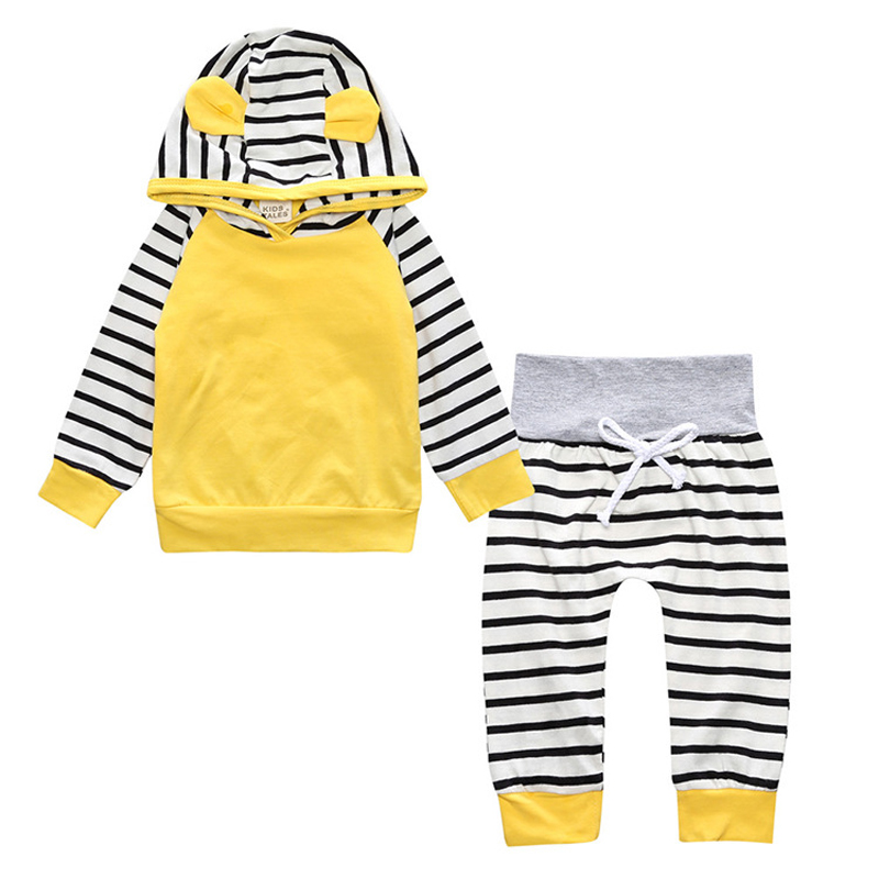 2Pcs/Set New Spring Autumn Newborn Baby Girls Boys Infant Warm Romper Playsuit Hooded Clothes Outfit 0-3 Years Children Clothing new baby girl clothing sets lace tutu romper dress jumpersuit headband 2pcs set bebes infant 1st birthday superman costumes 0 2t