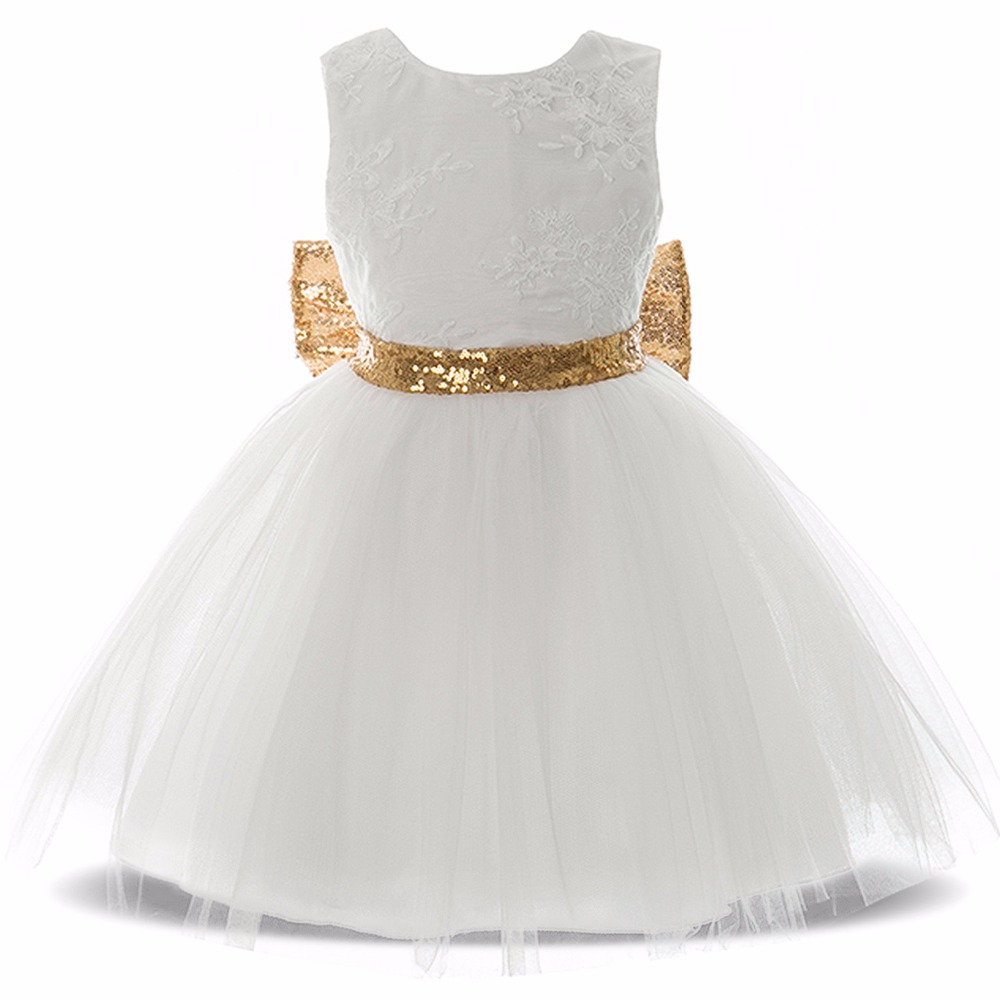 Girls Ball Gown Dresses Fashion Children Clothing Princess Baby Girl Party Lace Sequin Dress Costume Kids Wedding Dresses in Dresses from Mother Kids