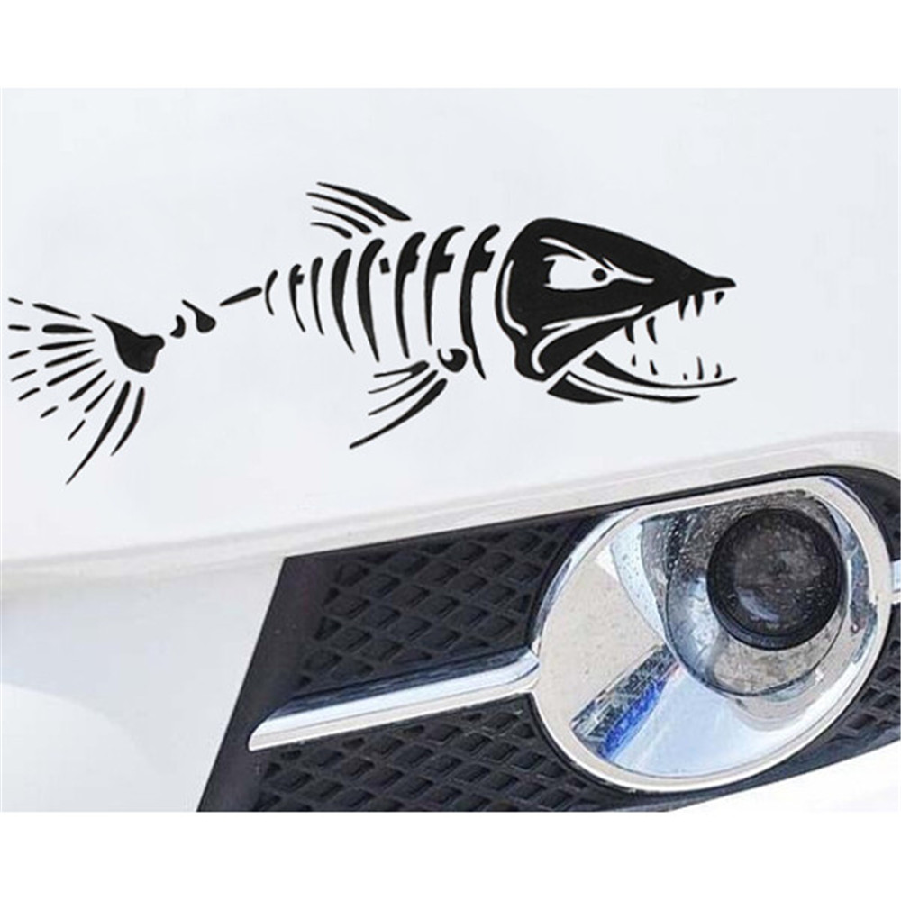 ᑎ‰Barco del coche ventana esqueleto angry Shark Mad pesca pescados ...