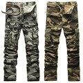 AIRGRACIAS Moda Bolso Calças de Camuflagem dos homens 100% Algodão Calças Casuais de Alta Qualidade Calças Cargo 6 Cores Plus Size 28-38