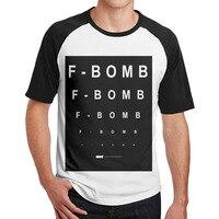 F BOMB brand een pistool Katoen t-shirts mannen 3/4 Mouw Effen Raglan jurk