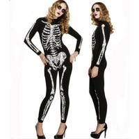 2018 New Halloween coco Ghost Vampire Costume Adult Woman's Horror Bones Halloween Sexy Play Costume Zombie Tights Bodysuit