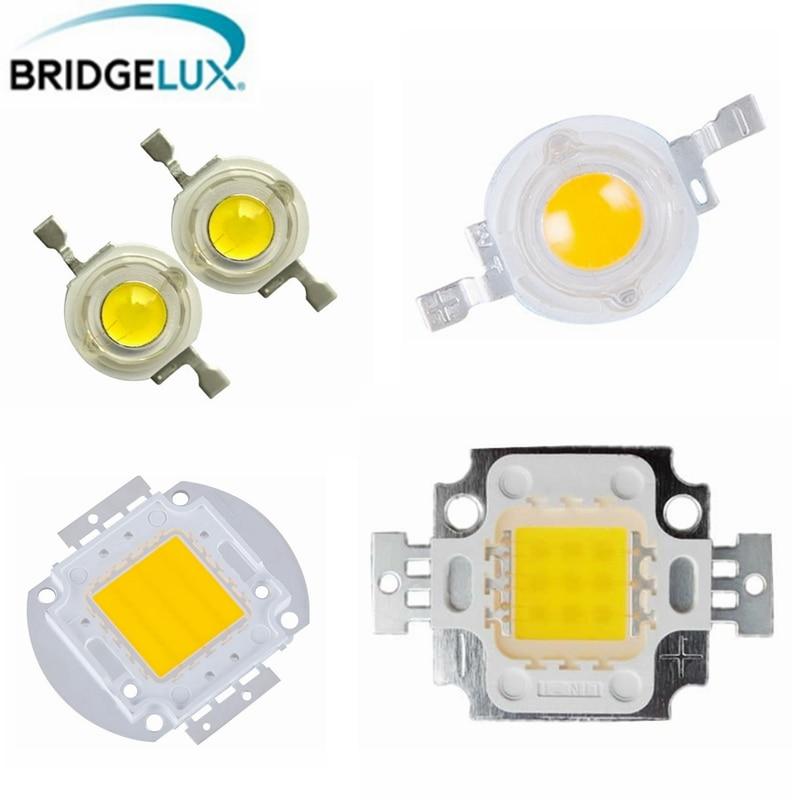 1Pcs High Power Bridgelux LED Chip 3W 5W 10W 20W 30W 50W 100W SMD LED Lamp COB White / Warm White for Floodlight Spotlight цена