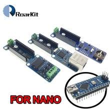NANO 3.0 L298P 2A silnik krokowy dc sterownik moduł obudowy W5100 sieci Ethernet LAN/zapis danych RTC zegar czasu rzeczywistego dla Arduino