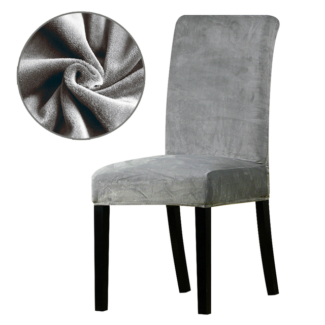chair covers office seats target video game real velvet fabric super soft cover luxurious seat thick stretch dining room hotel banquet restaurant