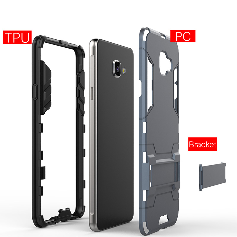Image 4 - H&A Luxury Armor Phone Case For Samsung Galaxy A3 A5 A7 2016 Shockproof Cover For Samsung A8 Plus 2018 J5 J7 2017 Case Cover-in Fitted Cases from Cellphones & Telecommunications