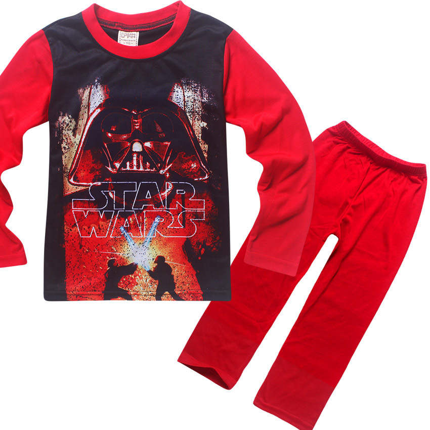new star wars boys pajama sets spring cotton christmas star wars clothing set for boys full sleeve shirt pants children clothing - Star Wars Christmas Pajamas