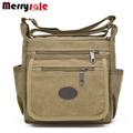The new men and women classic canvas bag shoulder bag travel bag casual fashion Multi Pocket diagonal