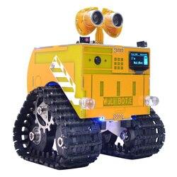 WuliBot скретч + Mixly программируемый робот RC программируемый трек автомобиль паровой развивающие игрушки подарок для детей