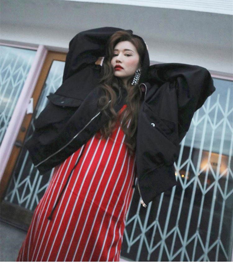 Jacket Bf Style Mode Baseball Automne Whitney 2018 Bomber Oversize Streetwear Casual Ww Veste 1993 Women Wang xnqYz4wXa