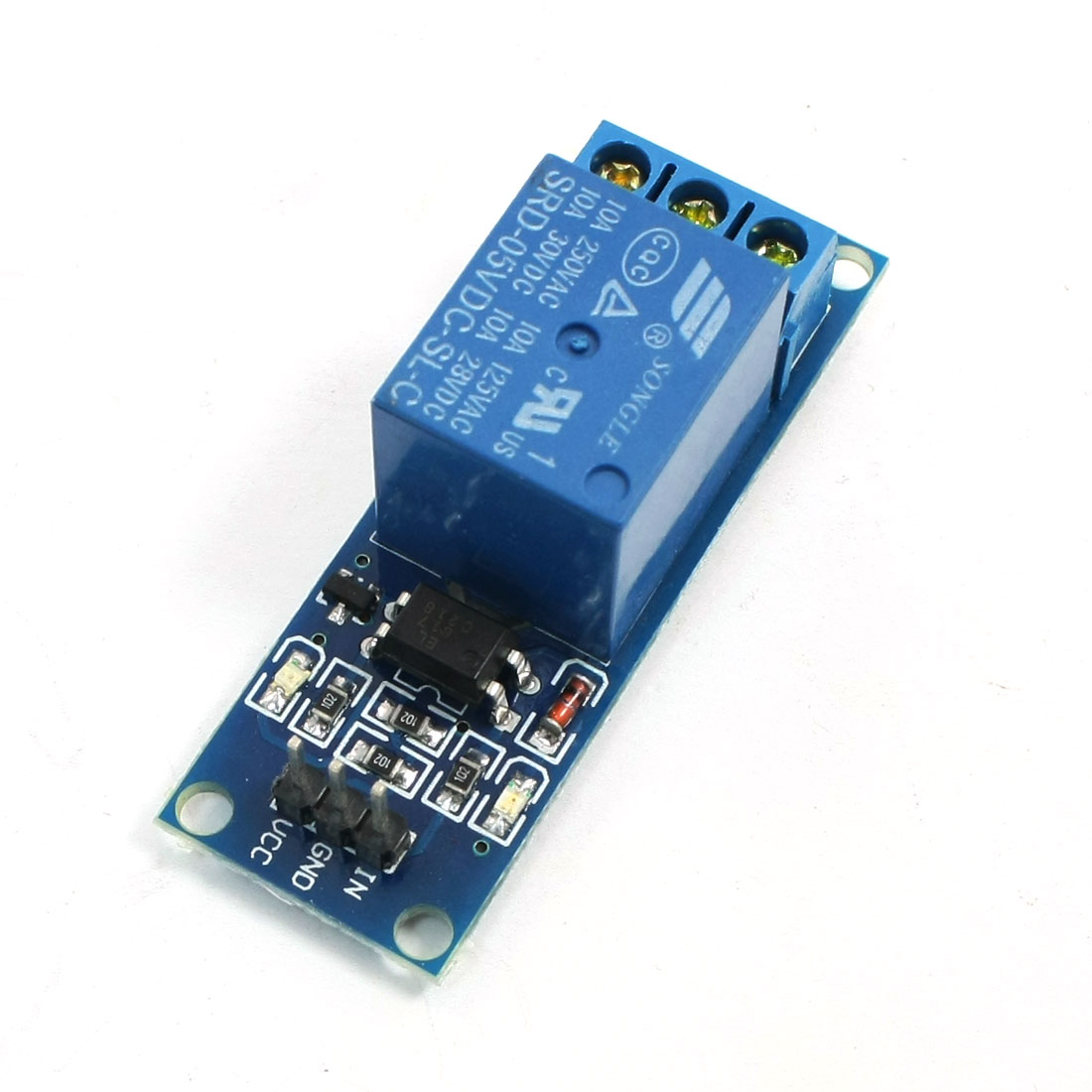 Optocoupler Shielded High Level Relay Module DC 5V 1CH Blue for TTL ARM AVR the vagrant mood