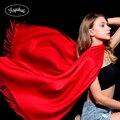 FAGEKALE Для женщин шарф женский Элитный бренд шарфы повелительницы Кисточкой Бандана шаль пашмины Кашемир платок зима палантины W1 - фото