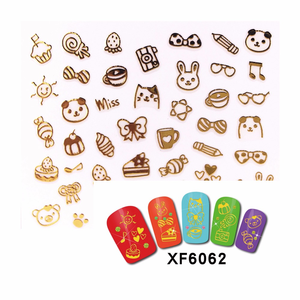 New Fashion Zko 1 Sheet Water Transfer Nail Sticker Decals Fruit Cake Cat Beauty Decoration Designs Diy Color Tattoo Tip At Any Cost Nails Art & Tools