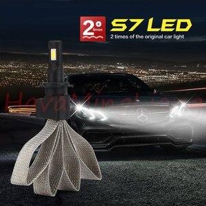 Image 3 - 2 sztuk S7 H4 H7 H11 H8 9006 HB4 H1 H3 HB3 H9 H27 reflektor samochodowy LED światła przeciwmgielne s 6000K dla Nissan Altima led światła przeciwmgielne światło robocze