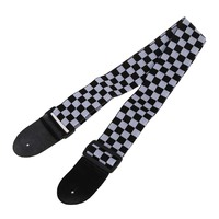 12pcs Black White Checker Flag Strap For Electric Acoustic Guitar Musical Instrument