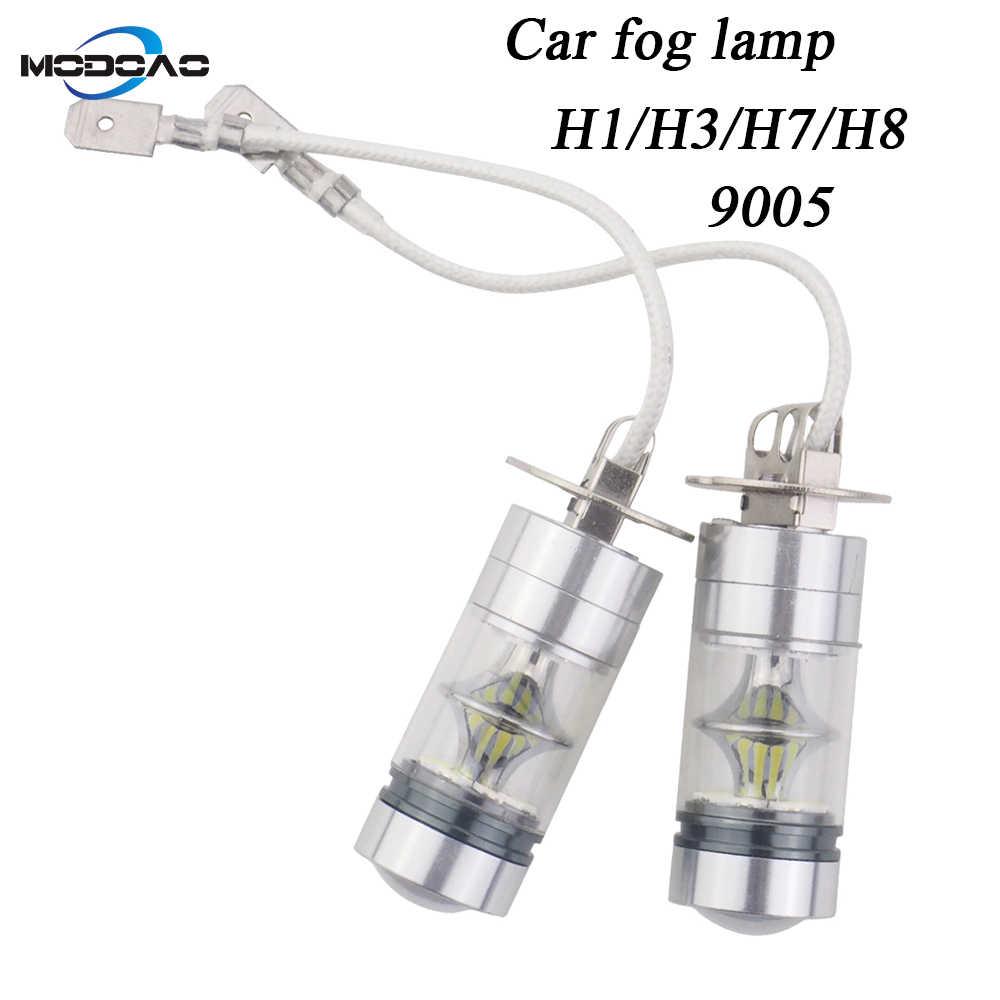 2-Pack רכב LED אור רכב ערפל מנורת vehicel ערפל אורות בשעות היום ריצת אור אנטי ערפל אורות H1 h3 H7 H8 9005