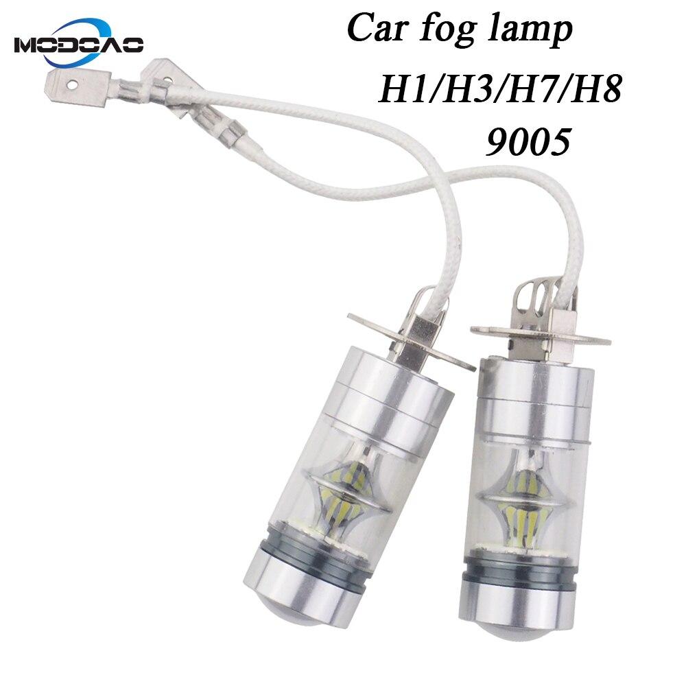 2-пакет, Прокат светодио дный света, противотуманные фары автомобиля vehicel туман дневного света Анти-Туман огни H1 H3 H7 H8 9005