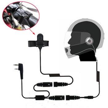 Auricular PTT de 2Pin para casco de motocicleta, auricular para KSUN TYT quansheng Baofeng, accesorios de walkie talkie