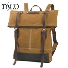 Men Draussen Vintage Canvas Military Shoulder Travel outdoors School Bag Backpacks British style Ladies Backpack Rucksack