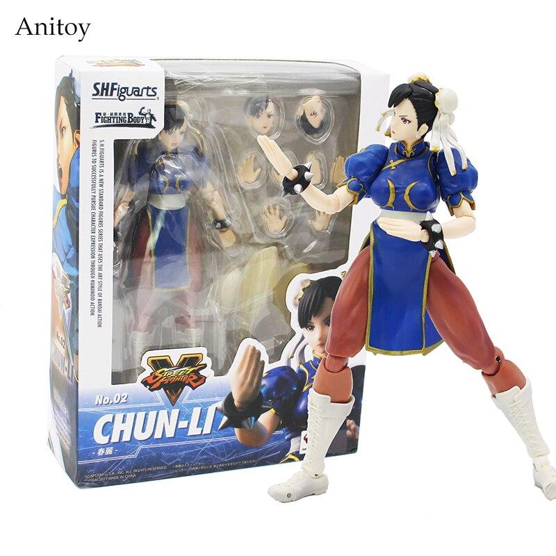 SHFiguarts Street Fighter IV Chun Li Fighting Body PVC Action Figure Collectible Model Toy 14.5cm KT4235