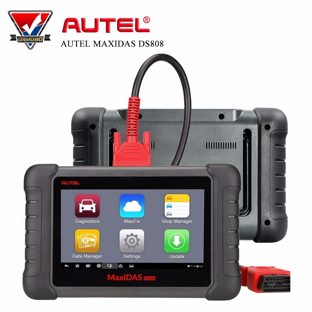 Autel Maxidas DS808 Automotive Diagnostic Tool OBD2 Scanner with Key Coding and Multi-language System (Same Function as MS906)