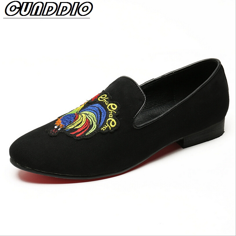 CUNDDIO Spiel British Business casual Sharp Embroidery Fashion National style Loafers Real leather Lazy shoes6-10 азбука невыносимая легкость бытия