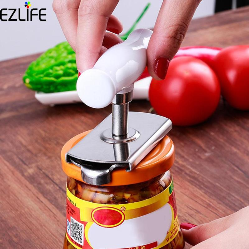 Adjustable Can Opener Stainless Steel Manual Can Bottle Opener Easy Kitchen Accessories Bottle Opener