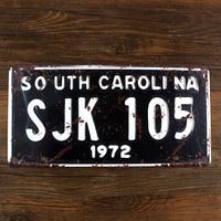 RZ1530-156 винтажный номерной знак «SO UTH CAROLINA» Оловянная картина «металлические номерные знаки» для украшения дома для баров, пабов 15x30CM