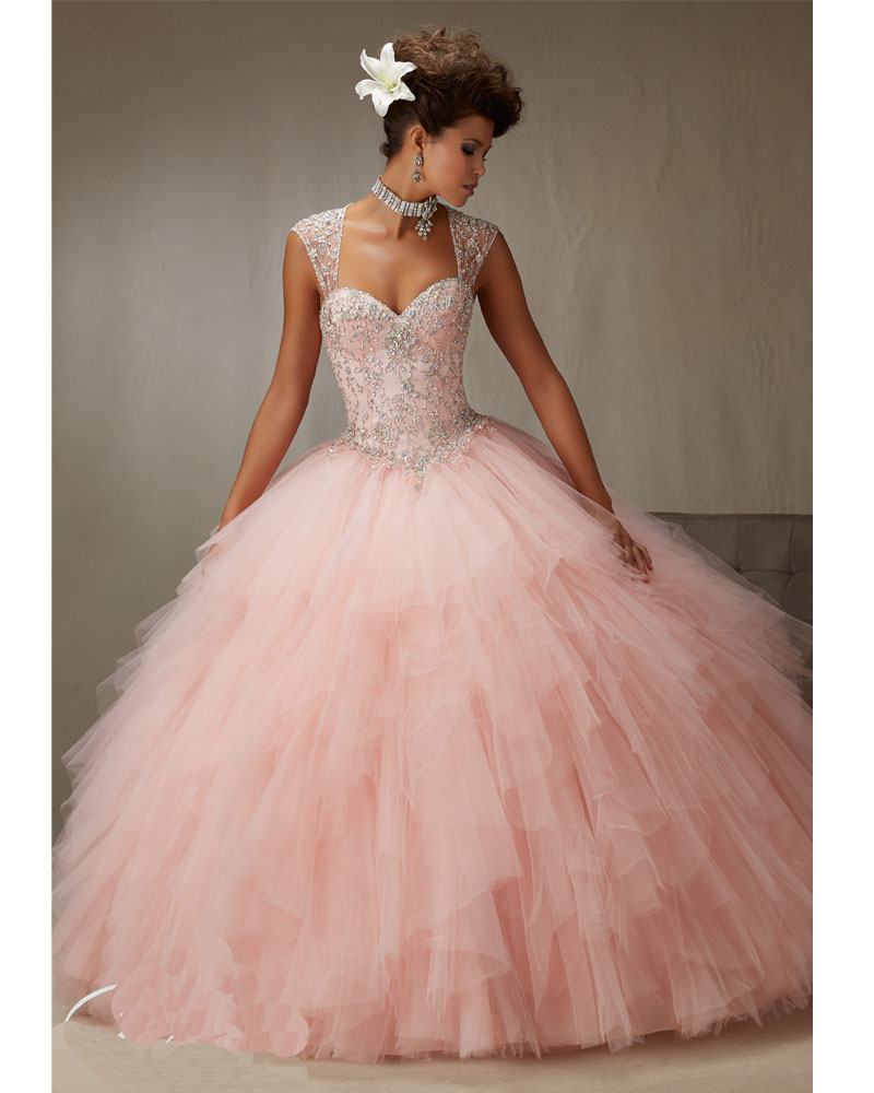 Vestidos de 15 años azul y rosa vestidos del Quinceanera hinchados ...