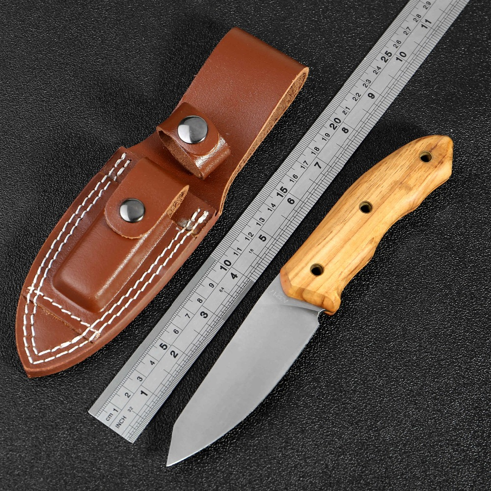 KKWOLF Outdoor tactical high hardness straight knife Open blade Wild survival Multi knife wilderness self defense portable tool