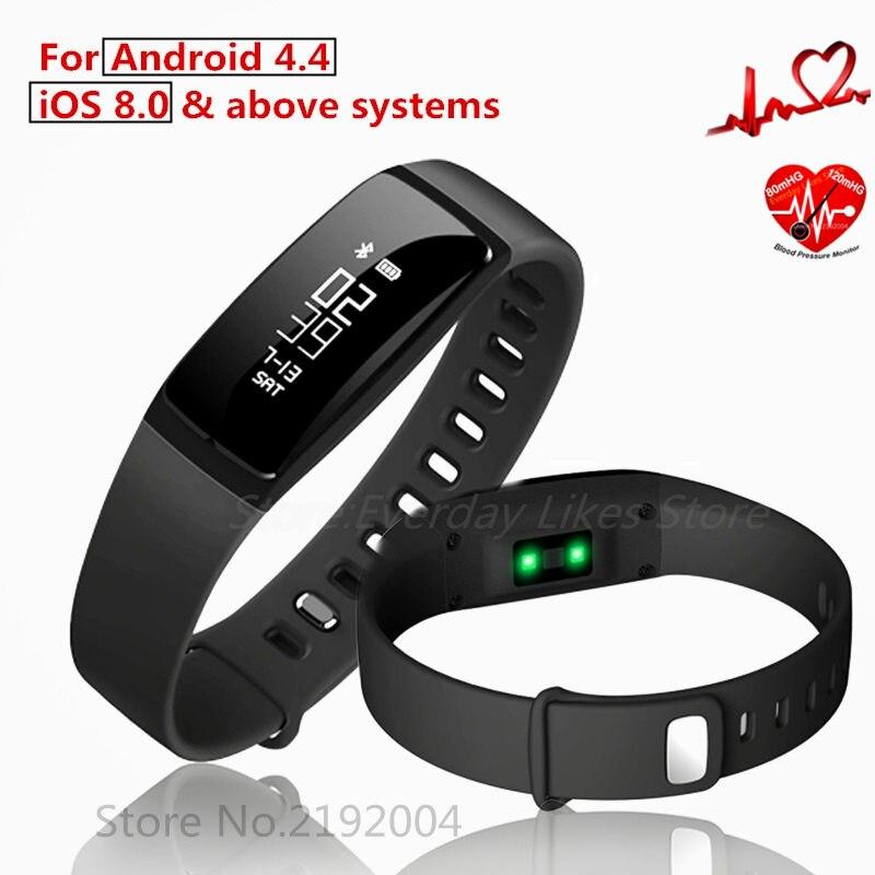 V07 Smart Wristband Band Heart Rate Monitor Blood Pressure Bracelets pedomet Bracelet Fitness Tracker SmartBand For