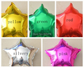 wholesale 50pieces/lot Foil Balloons 22cmStar Birthday Married Decoration 10 inch  five-pointed balloon Red Yellow Silvery Green