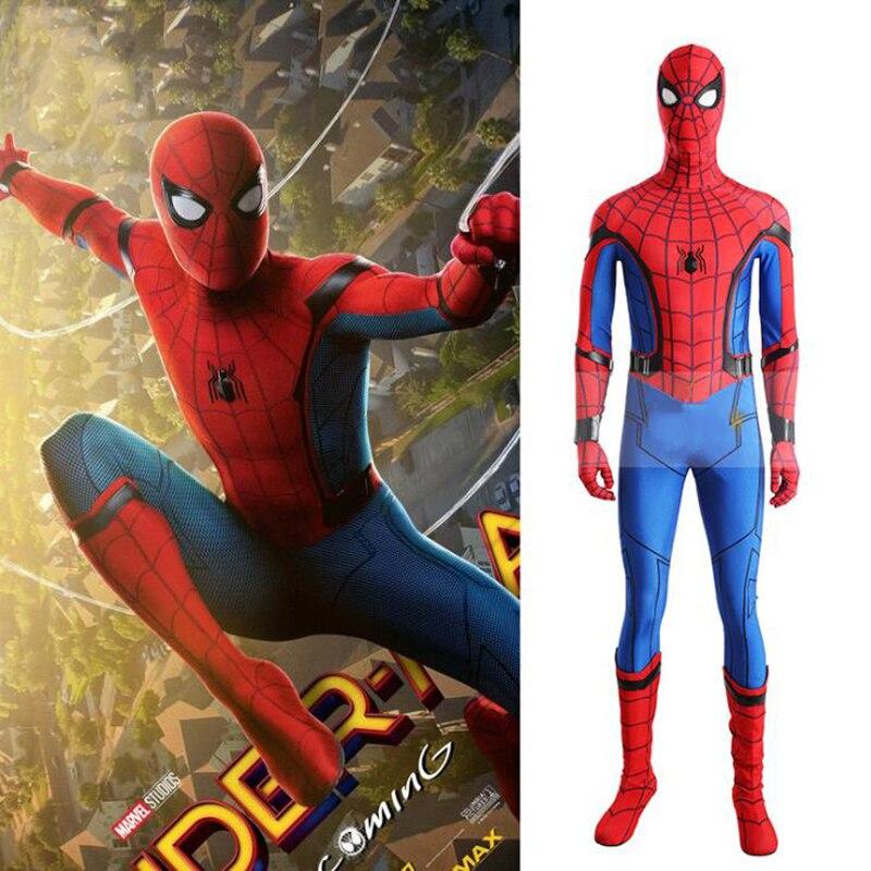 Хэллоуин красный костюм Человека паука для женщин мужчин малыш сексуальный аниме косплэй супер герой паук наряды качество Вечерние фантаз
